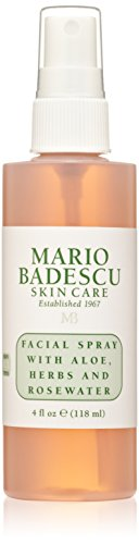 - Mario Badescu Facial Spray with Aloe, Herbs and Rosewater, 4 Fl Oz