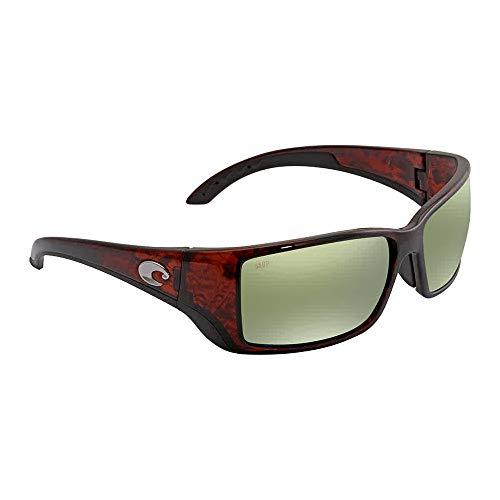 Costa Del Mar Blackfin Sunglasses Tortoise Global Fit/Green Mirror ()