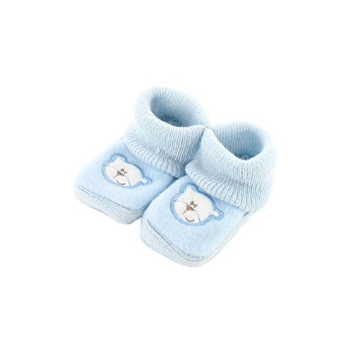 Babyschuhe 0-3 Monate Blue - Papa Bear Pattern
