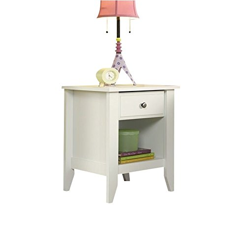 Sauder Shoal Creek Night Stand, Soft White finish (Antique Bedroom Furniture White)