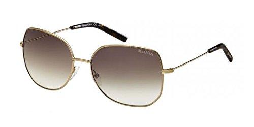 Max Mara Gold Brown Women's Metal Frame Sunglasses MM MARLENE - Maxmara Sunglass