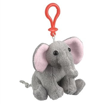 Elephant Plush Elephant Stuffed Animal Backpack Clip Toy Keychain Wildlife Hanger by Wildlife Artists -
