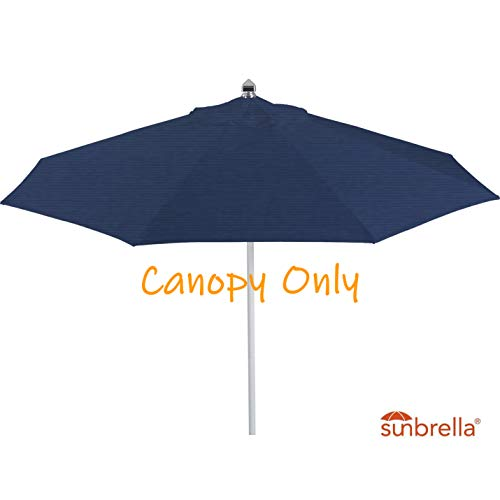 (Casual Choice 9ft Round Universal Canopy Replacement for Market Umbrella (Sunbrella- Navy) )