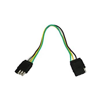 31rQppVF%2BlL._SL500_AC_SS350_ amazon com abn trailer wire extension, 1' foot, 4 way 4 pin plug 4 wire harness at eliteediting.co