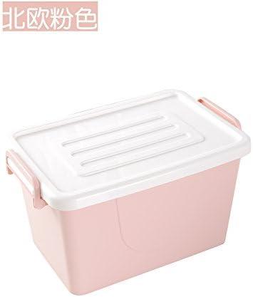 XXAICW Caja de almacenamiento de doble hebilla hogar ropa plástico Cajas armario ropa cajas desorden almacenamiento caja de almacenaje con tapa 28 * 18 * 17 cm, Rosa: Amazon.es: Hogar