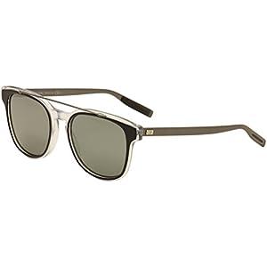 Christian Dior Black Tie 211/S Sunglasses Black Crystal Ruthenium / Black Mirror