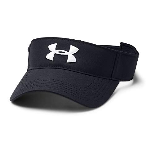 - Under Armour Core Golf Visor, Black//White, One Size Fits All