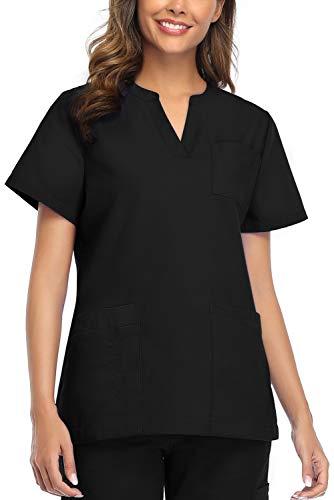 CRETUAO Women Scrubs Tops Medicinae Uniformis V-Neck Nursing Shirts Pockets Modern Fit Medical Uniform