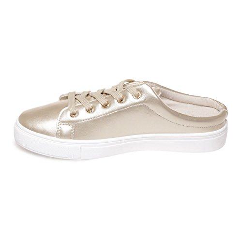 La Modeuse - Sandalias para mujer dorado