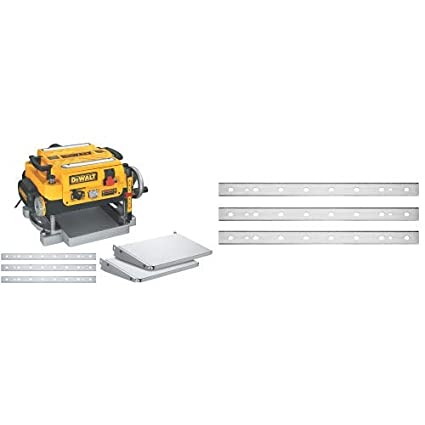 DEWALT DW735X Two-Speed Thickness Planer Package 13-Inch with DEWALT DW7352  Replaceable Knives for DW735 13-Inch Planer