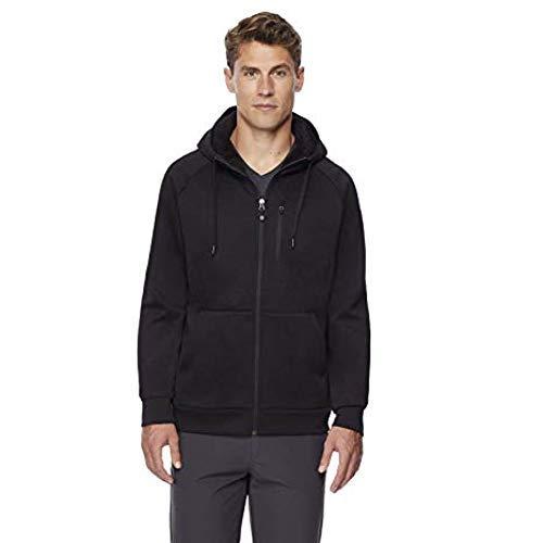 32 DEGREES Men's Sherpa Lined Full Zip Hoodie, Variety (L, Black)