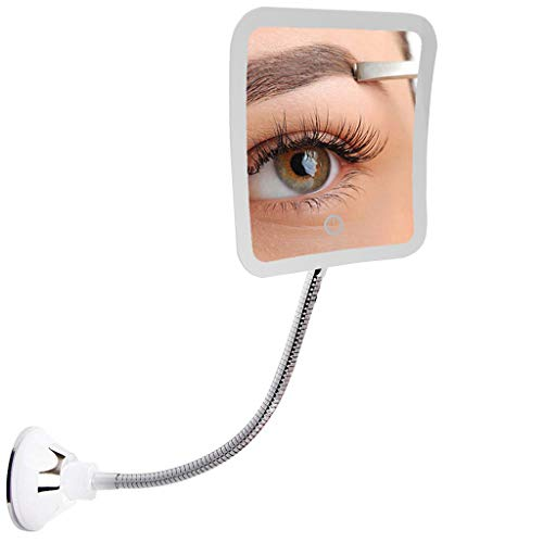 Dirance Dimmable LED 7X Magnifying Makeup Mirror Bathroom Mirror Gooseneck And -