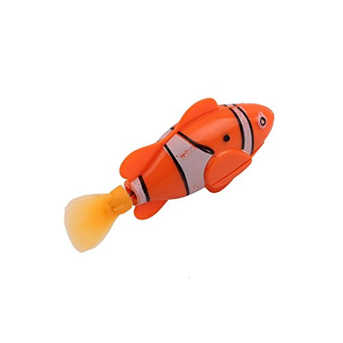 UNKE Swimming Robot Fish Activated in Water Magical Electronic Toy Kids Children Gift(Orange) (Fish For Kids)