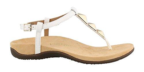 VIONIC Nala, Sandalias con Tira de T Para Mujer White (White)