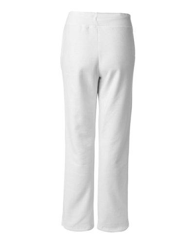 Gildan womens Heavy Blend 8 oz. 50/50 Open-Bottom Sweatpants(G184FL)-WHITE-L