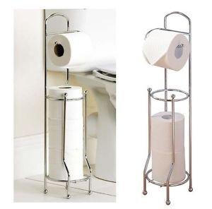 SA Dé vidoir pour papier toilette avec rangement pour 4 rouleaux Chromé