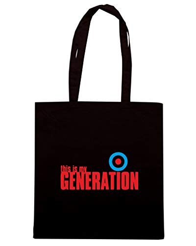 GENERATION MY Shopper Borsa Shirt Nera Speed OLDENG00594 BCYYZx