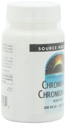Amazon.com: Source Naturals ChromeMate Chromium GTF 200mcg Yeast-Free, Glucose Absorption - 240 Tablets: Health & Personal Care