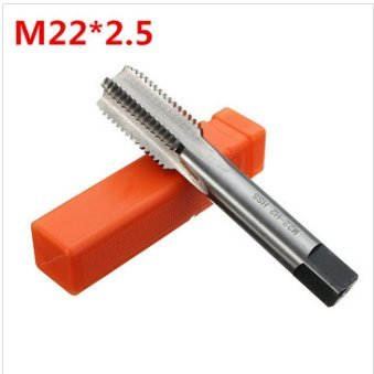 Hitommy M22 Metric Tap 1.5/2.5 Thread Tap Coarse Fine Tungsten Hardened Tempered Steel Tap - 2.5