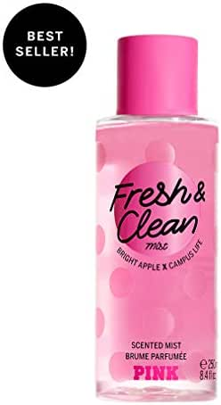 Victorias Secret Pink Collection Fresh and Clean Body Mist Fresh with Bright Apple, Sea Spray & Fresh Tangerine Women's Fragrance Perfume