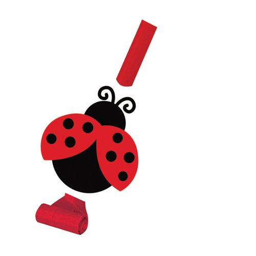 8-Count Birthday Party Blowouts with Medallion, Ladybug Fancy - Bugs Birthday Cake