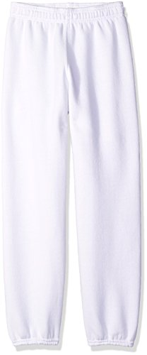 Soffe Boys' Big YTH Pant 9oz Fleece 50c/50p, White, Medium