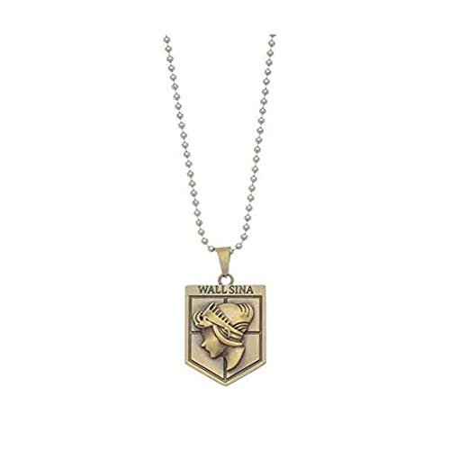 Attack on Titan Necklace Wall Sina Emblem Chain Necklace ()