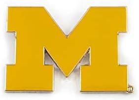 and Metal Keychain Gift Bundle Logo Lapel Pin aminco NCAA Michigan Wolverines Team Reversable Lanyard