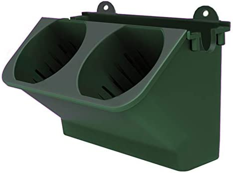 VICOODA 植木鉢 自動給水 壁掛け ハンギング鉢 プラスチック 垂直緑化 プランター 花鉢 室内室外 家庭菜園 ベランダ用 (ダークグリーン)
