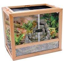 Amazon Com Penn Plax Natural Wood And Glass Terrarium Assembled