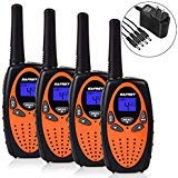 Safrey Long Range Walkie Talkies Rechargeable Battery Charger Included 22 Channel GMRS Two