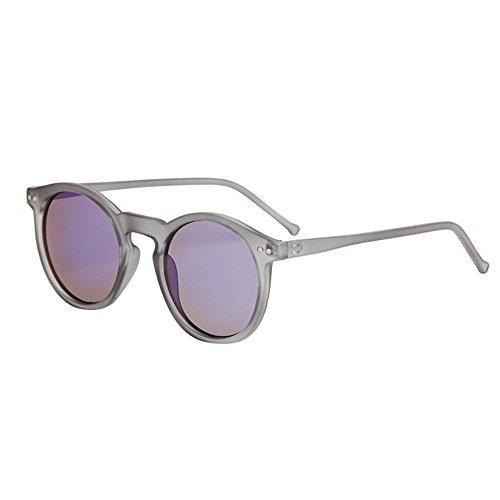 KPshop Women Men Fashion Circular Sunglasses Brand Classic Tone Mirror Retro Sunglasses transparent - #1 Sunglasses Brand