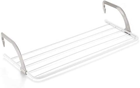 Rayen Balcones 5 m de Superficie de tendido | Tendedero para pequeñas coladas | para Interior y Exterior, Acero Pintado, ABS, Blanco y Gris, 81 x 37.5 x 15 cm: Amazon.es: Hogar