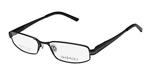 Ad.lib 3127 Mens/Womens Cat Eye Full-rim Titanium Flexible Hinges Comfortable Contemporary Elegant Eyeglasses/Spectacles (52-16-140, Dark Blue/Gray) (Blue Cat Eye Brille)