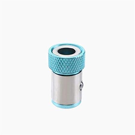 "Jltx-my 1PCドライバービットホルダー磁気リング1/4"" 6.35ミリメートルメタル強い磁化スクリュードライバービットねじピックアップツールパート (色 : Lake Blue)"
