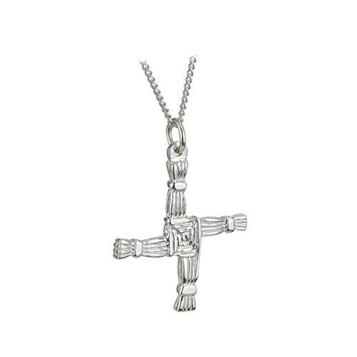 St Brigids Cross Necklace Sterling Silver 2 Sided Irish Made