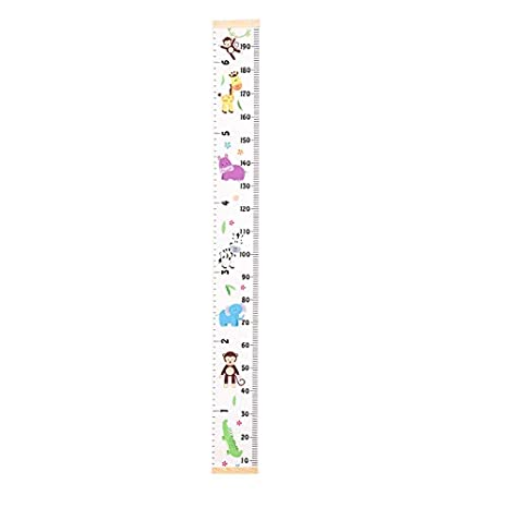 extra/íble F ni/ñas decoraci/ón de habitaci/ón de guarder/ía tabla de altura y crecimiento para ni/ños Regla de altura para ni/ños tabla de crecimiento de lona para colgar en la pared