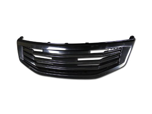 - HS Power Black Mu Sport Front Hood Bumper Grill Grille Cover Abs 11-12 Accord 4D 4Dr Sedan