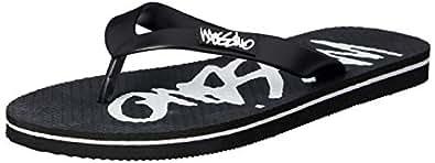 Mossimo Men's Script Thong Sandals, Black, 5 AU