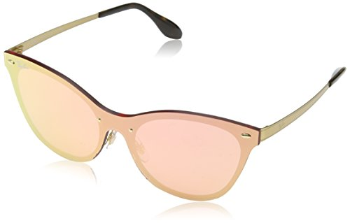 Ray-Ban Women's Steel Woman Non-Polarized Iridium Cateye Sunglasses, Orange, 43 mm
