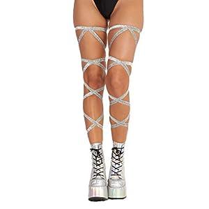 Women's Leg Wraps for Raves, Dancing, Festivals – Non-Slip Garter iHeartRaves