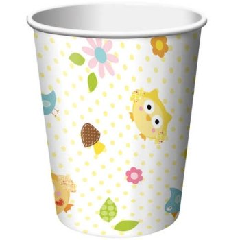 Creative Converting BB377128 Happy Tree 9Oz Cups -8 Pack