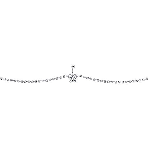 Clear Glitzy Butterfly Belly C