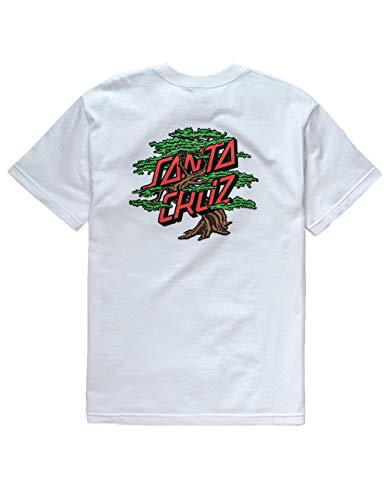 Santa Cruz Bonsai Dot T-Shirt, White, Small