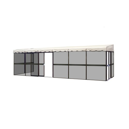 Patio Mate 10Panel Screen Enclosure 09365 Brown with Almond Roof
