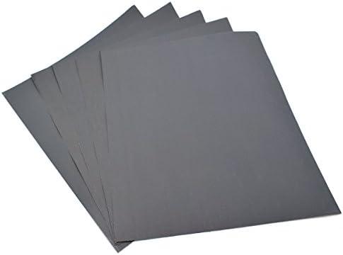 JK-2 Papel de Lija 7pcs 400-1200 Papel de Lija Impermeable seco seco de Grano 230x280mm