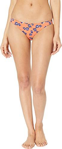 (Bikini Lab Women's Hipster Bikini Swimsuit Bottom, Orange//Feline fine, Small)