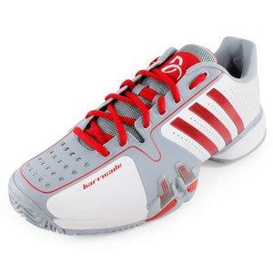 adidas barricata 7 novak djokovic bianco / grigio / rosso (10):