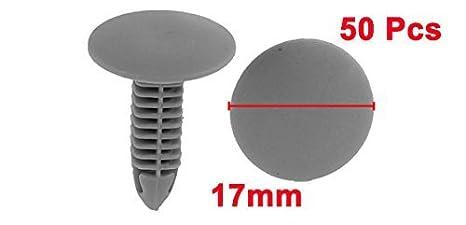 Amazon.com: eDealMax Clips puerta de coche de plástico Remaches de sujetadores DE 6 mm x 6,5 mm Agujero 50Pcs gris: Automotive