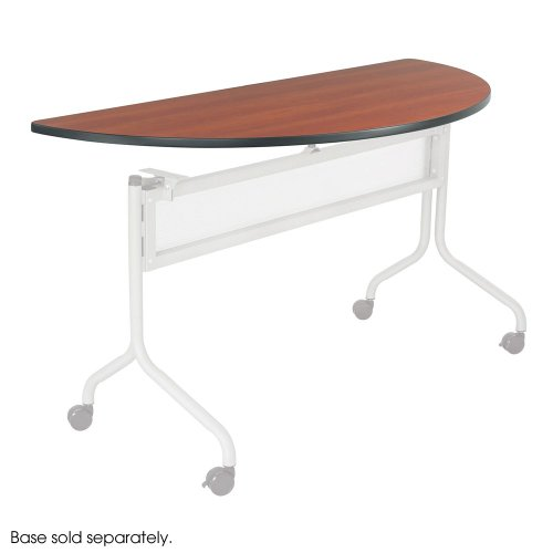 Mobile Seminar Tables - Safco Office Meeting Seminar Impromptu Mobile Training Table, Half Round Top - 48 x 24